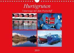 Hurtigruten – Unterwegs mit dem Postschiff (Wandkalender 2019 DIN A4 quer) von Thauwald,  Pia