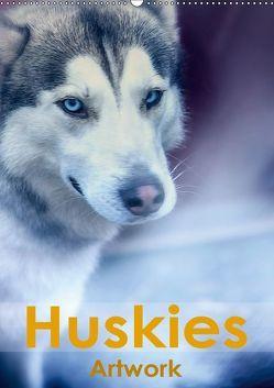 Huskies – Artwork (Wandkalender 2019 DIN A2 hoch) von Brunner-Klaus,  Liselotte