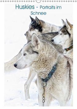 Huskies – Portraits im Schnee (Wandkalender 2019 DIN A3 hoch) von Brunner-Klaus,  Liselotte