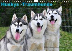 Huskys – Traumhunde (Wandkalender 2018 DIN A4 quer) von Ebardt,  Michael