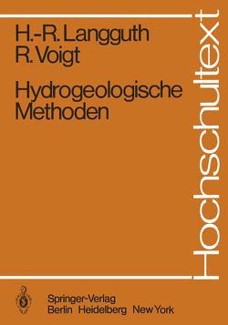 Hydrogeologische Methoden von Langguth,  Horst R., Voigt,  Rudolf