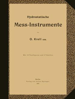 Hydrostatische Mess-Instrumente von Krell,  NA