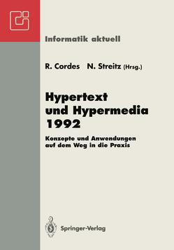 Hypertext und Hypermedia 1992 von Cordes,  Ralf, Streitz,  Norbert