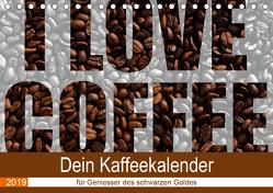 I Love Coffee – Dein Kaffeekalender für Geniesser des schwarzen Goldes (Tischkalender 2019 DIN A5 quer) von Widerstein - SteWi.info,  Stefan