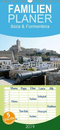 Ibiza & Formentera – Familienplaner hoch (Wandkalender 2019 , 21 cm x 45 cm, hoch) von N.,  N.