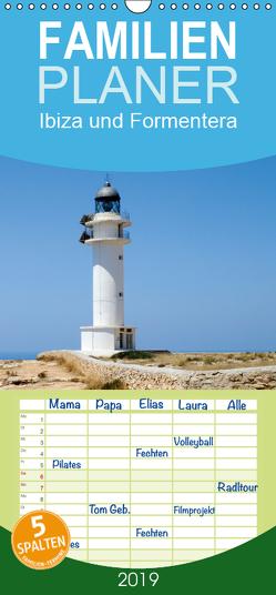 Ibiza und Formentera – Familienplaner hoch (Wandkalender 2019 , 21 cm x 45 cm, hoch) von Boensch,  Barbara