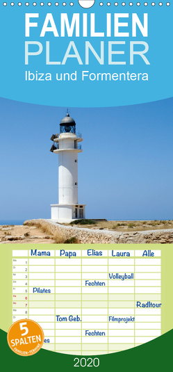 Ibiza und Formentera – Familienplaner hoch (Wandkalender 2020 , 21 cm x 45 cm, hoch) von Boensch,  Barbara