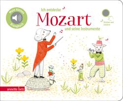 Ich entdecke Mozart und seine Instrumente – Pappbilderbuch mit Sound (Mein kleines Klangbuch) von Lawall,  Christiane, Renon,  Delphine