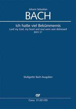 Ich hatte viel Bekümmernis (Klavierauszug) von Bach,  Johann Sebastian