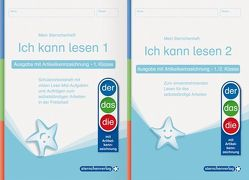 Ich kann lesen 1 und 2 – Ausgabe mit Artikelkennzeichnung für die 1. und 2. Klasse von Langhans,  Katrin