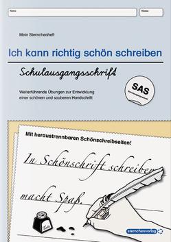 Ich kann richtig schön schreiben – Schulausgangsschrift SAS von Langhans,  Katrin