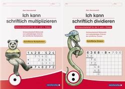 Ich kann schriftlich multiplizieren und dividieren – 2 Arbeitshefte im Set von Langhans,  Katrin
