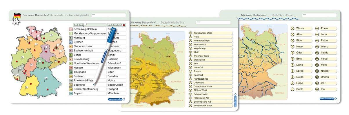 Ich kenne Deutschland - 1. Bundesländer & Landeshauptstädte, 2. Flü