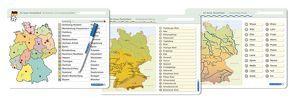 Ich kenne Deutschland – 1. Bundesländer & Landeshauptstädte, 2. Flüsse, 3. Gebirge im Set von Langhans,  Katrin