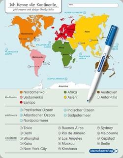 Ich kenne die Kontinente, Weltmeere und Großstädte von Langhans,  Katrin