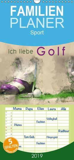 Ich liebe Golf – Familienplaner hoch (Wandkalender 2019 , 21 cm x 45 cm, hoch) von Roder,  Peter