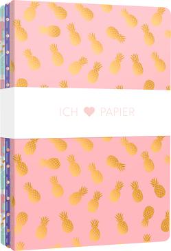 Ich liebe Papier – 3 Notizhefte DIN A4