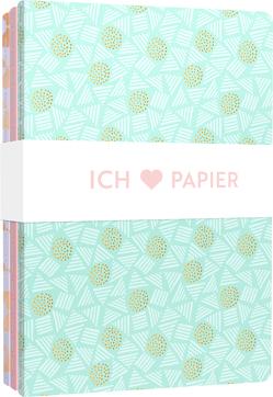 Ich liebe Papier – 3 Notizhefte DIN A5