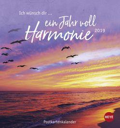 Ich wünsch' dir … ein Jahr voll Harmonie Postkartenkalender – Kalender 2019 von Heye