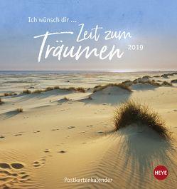 Ich wünsch' dir … Zeit zum Träumen Postkartenkalender – Kalender 2019 von Heye