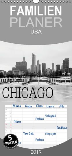 Icy Chicago – Familienplaner hoch (Wandkalender 2019 , 21 cm x 45 cm, hoch) von Stein,  David