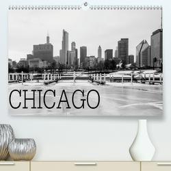Icy Chicago (Premium, hochwertiger DIN A2 Wandkalender 2021, Kunstdruck in Hochglanz) von Stein,  David
