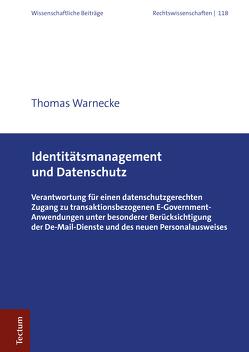 Identitätsmanagement und Datenschutz von Warnecke,  Thomas