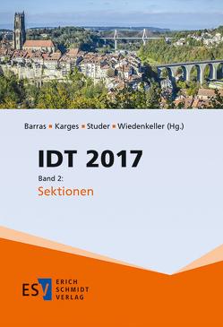 IDT 2017, Band 2 von Barras,  Malgorzata, Karges,  Katharina, Studer,  Thomas, Wiedenkeller,  Eva