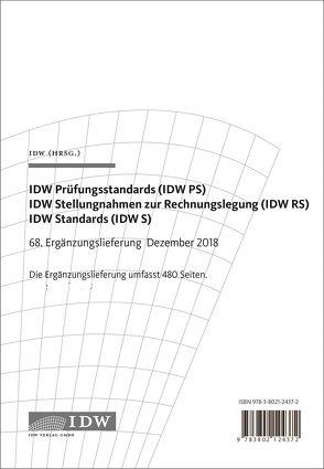 IDW, 68. Erg.-Lief. IDW Prüfungsstandards