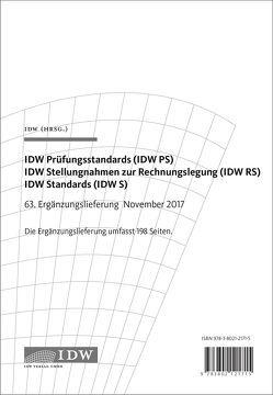 IDW Prüfungsstandards (IDW PS) IDW Stellungnahmen zur Rechnungslegung (IDW RS) IDW Standards (IDW S) von IDW