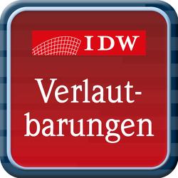 IDW Verlautbarungen – Online-Ausgabe von IDW Verlag