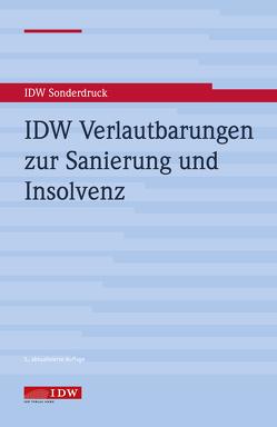 IDW Verlautbarungen zur Sanierung und Insolvenz