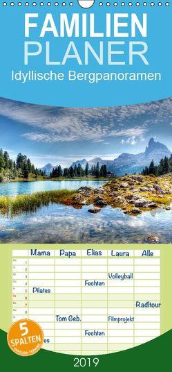 Idyllische Bergpanoramen – Familienplaner hoch (Wandkalender 2019 , 21 cm x 45 cm, hoch) von - Uwe Vahle,  Kordula