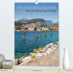 IDYLLISCHER GARDASEE Riva del Garda und Torbole (Premium, hochwertiger DIN A2 Wandkalender 2020, Kunstdruck in Hochglanz) von Viola,  Melanie