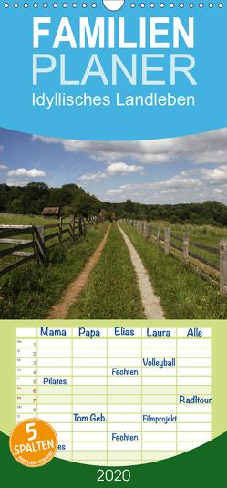 Idyllisches Landleben – Familienplaner hoch (Wandkalender 2020 , 21 cm x 45 cm, hoch) von Lindert-Rottke,  Antje