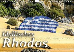 Idyllisches Rhodos (Wandkalender 2019 DIN A4 quer) von Kuebler,  Harry