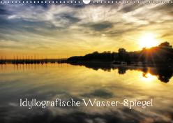 Idyllografische Wasser-Spiegel (Wandkalender 2019 DIN A3 quer) von glandarius,  Garrulus