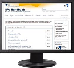 IFA-Handbuch – Sicherheit und Gesundheitsschutz am Arbeitsplatz – Jahresabonnement bei Kombibezug Print und Datenbank von Ellegast,  R. P., Reinert,  D.