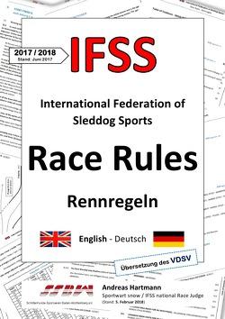 IFSS Race Rules – Rennregeln 2017/2018 von Hartmann,  Andreas