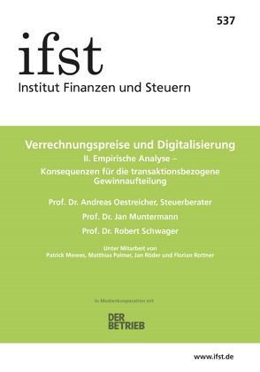 ifst-Schrift 537 von Muntermann,  Jan, Oestreicher,  Andreas, Schwager,  Robert