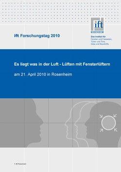 ift-Forschungstag 2010 von ift Rosenheim GmbH