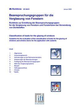 ift-Richtlinie – Prüfung von Verglasungssystemen mit vorgefertigten Profilen von ift Rosenheim GmbH