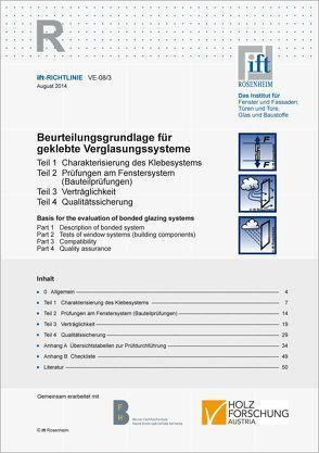 ift-Richtlinie VE-08/3 von ift Rosenheim GmbH