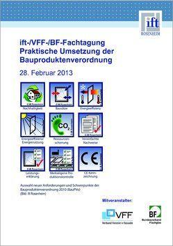 ift-/VFF-/BF- Fachtagung von ift Rosenheim GmbH