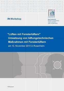 ift- Workshop: Umsetzung von lüftungstechnischen Maßnahmen mit Fensterlüftern von ift Rosenheim GmbH
