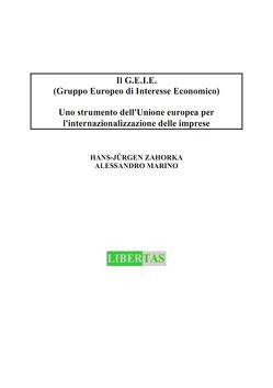 Il G.E.I.E. (Gruppo Europeo di Interesse Economico) von Marino,  Alessandro, Zahorka,  Hans J