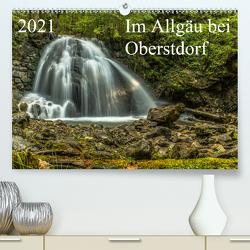 Im Allgäu bei Oberstdorf (Premium, hochwertiger DIN A2 Wandkalender 2021, Kunstdruck in Hochglanz) von Wenk,  Michael