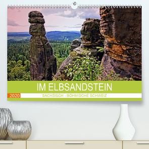 Im Elbsandstein – Sächsisch-böhmische Schweiz (Premium, hochwertiger DIN A2 Wandkalender 2020, Kunstdruck in Hochglanz) von Felix,  Holger
