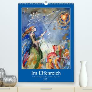 Im Elfenreich- Zauber und Magie der Elfen in schönen Aquarellen (Premium, hochwertiger DIN A2 Wandkalender 2021, Kunstdruck in Hochglanz) von Tiukkel,  Sveta