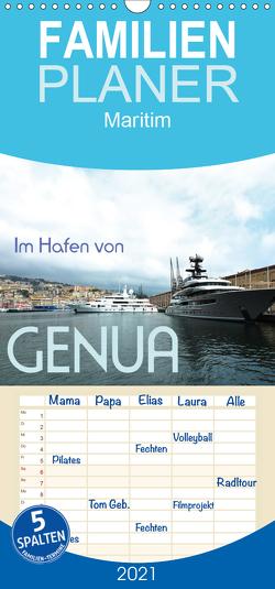 Im Hafen von Genua – Familienplaner hoch (Wandkalender 2021 , 21 cm x 45 cm, hoch) von J. Richtsteig,  Walter
